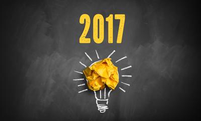Idee mit Jahreszahl 2017