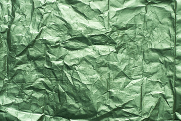green creased metallic foil background texture