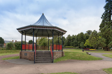 The bandstand in Alton town park, Hampshire, England