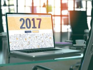 2017 - Concept on Laptop Screen. 3D.