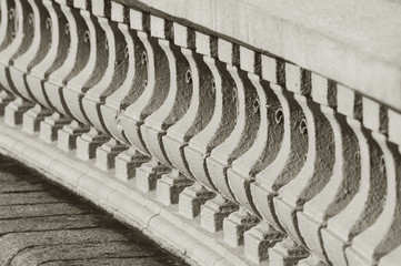 Close up detail with depth of field of Classic bannister