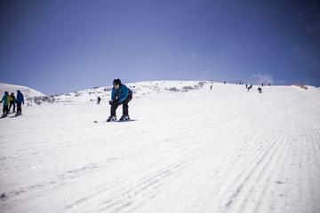 Skier at Borovets resort, Bulgaria