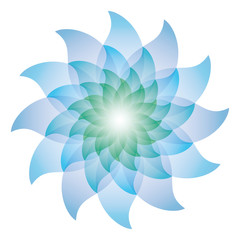 Beautiful Blue Lotus Flower Icon.