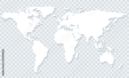 World Map On Transparent Background Stock Image And Royalty Free