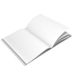 Opened White Book Template