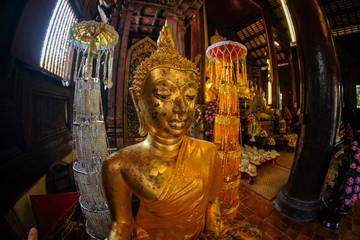 Wat Phan Tao temple in Chiang Mai, Thailand.