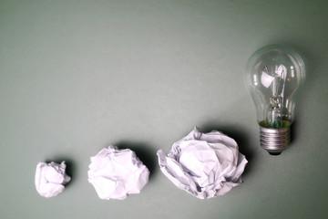 glass lamp crumpled paper