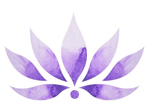 crown chakra symbol concept, flower floral, watercolor painting