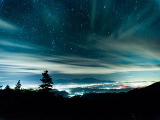 上田市と星空