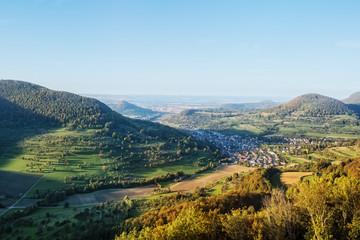 Swabian alps panorama view