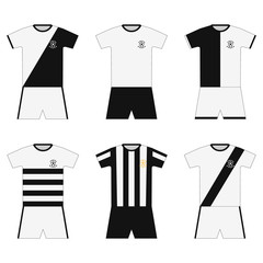 Football kit. template. set
