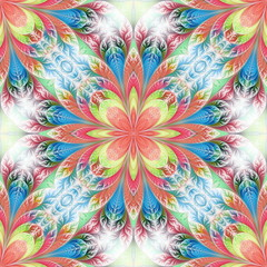 Flower pattern in fractal design. Artwork for creative design, a