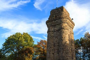Der Bismarckturm im Botanischen Garten.
