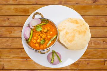 Traditional Inidan fastfood - Chola Bhautra
