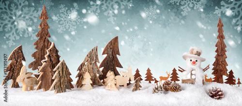 Holz dekoration hintergrund mit schnee design ideal f r - Winterlandschaft deko ...
