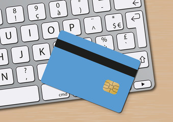 e-commerce - Carte bancaire - ordinateur