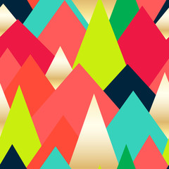 Abstract seamless background with color Triangles. Circus pattern. Vector illustration