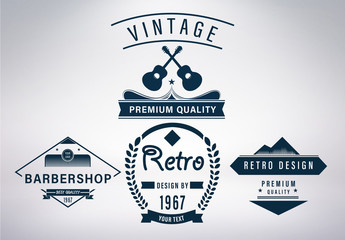 Retro Logo Set