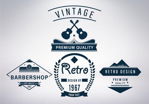 Retro Logo Set