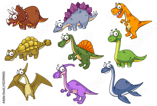 Collection of dinosaur