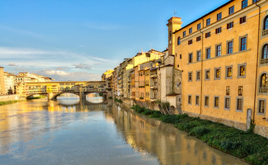 Buildings along Arno river, Florence - Italy