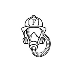 Firefighter. Firefighter Logo. Firefighter Silhouette. Firefighter Illustration. Firefighter Vector. Firefighter Cartoon.