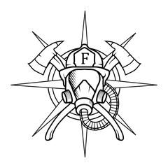 Firefighter. Firefighter Logo. Firefighter Silhouette. Firefighter Illustration. Firefighter Vector. Firefighter Cartoon.