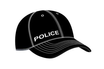 police cap in vector