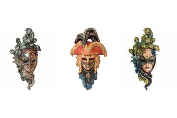 Venetian full-face masks for masquerade