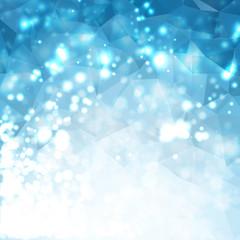 Shiny Bokeh Polygon Background