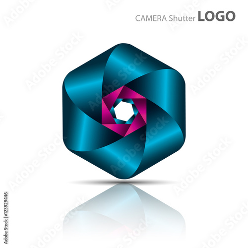 """Camera Shutter Logo Vector, isolated on white"" Stock ..."