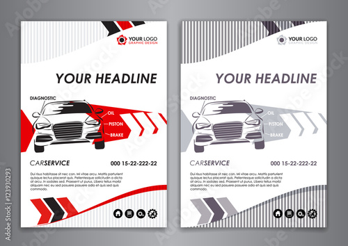 A A Service Car Business Card Template Auto Repair Brochure - Mechanic business cards templates free