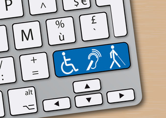 Handicap - Clavier d'ordinateur - Aide à la personne