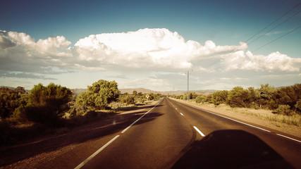 Outback Straße in den Flinders Ranges, South Australia in Australien