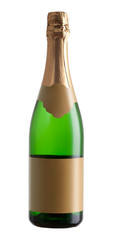 Bottle of champagne isolated on a white background