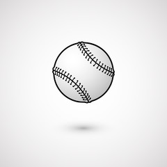 Baseball. Isolated on white background. Vector illustration, eps 10.