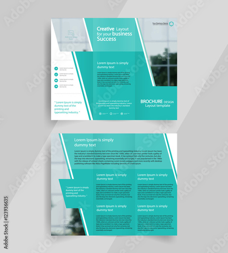 Business Trifold Brochure Layout Design Vector A Brochure - A4 tri fold brochure template