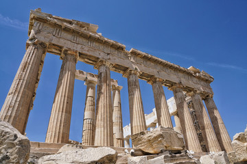 The Parthenon is a temple on the Athenian Acropolis, in Athens, Greece, dedicated to the goddess Athena, whom the people of Athens considered their patron.