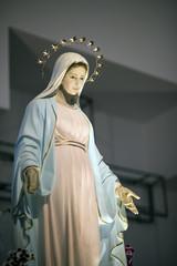 TIHALJINA, 30 km FROM MEDJUGORJE, BOSNIA AND HERZEGOVINA, 2016/8/7. Statue of the Virgin Mary