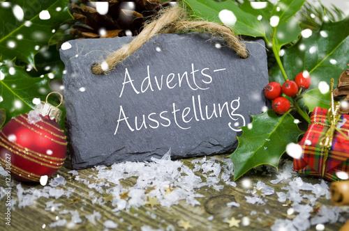 Adventsausstellung weihnachtliche dekoration stockfotos for Weihnachtliche dekoration