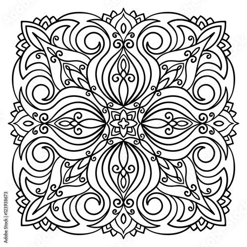 vector mandala illustration abstract floral pattern boho style Tama Net Wrap vector mandala illustration abstract floral pattern boho style oriental