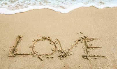 Wall Mural - amor en la arena de la playa