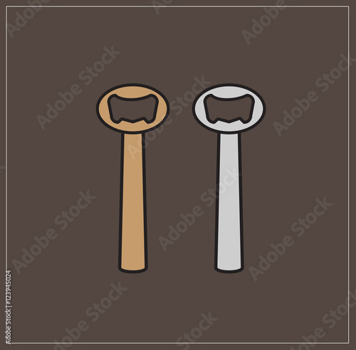 bottle openers vector stock image and royalty free vector files on pic 123945024. Black Bedroom Furniture Sets. Home Design Ideas