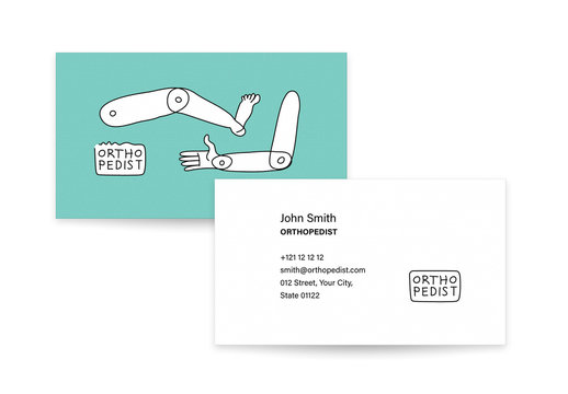 Doctor and Physical Therapist Business Card Template