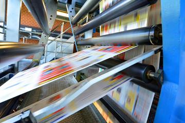 Druckmaschine Rollenoffset in einer Zeitungsdruckerei // printing machine roll offset in a newspaper printing company