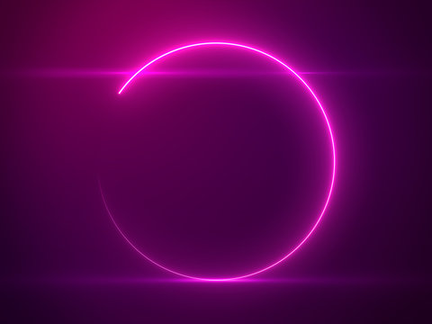 Beautiful Pink Circle Light with Lens Flare - Luxury Background Design Element