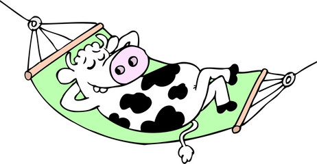 cow in the hammock