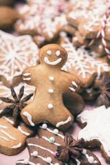 Weihnachtskarte Lebkuchenmann