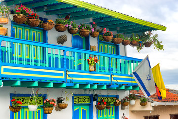 Colorful Architecture and Flowers