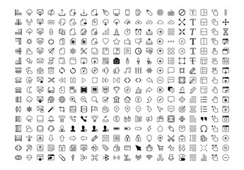 320 Black and White Web Icons